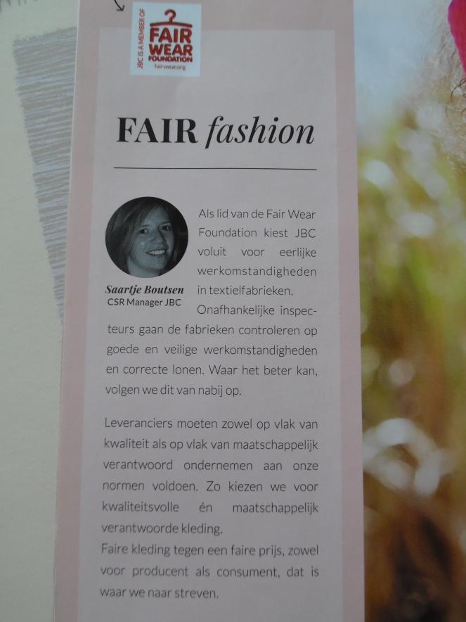 JBC, lid van Fair Wear Foundation