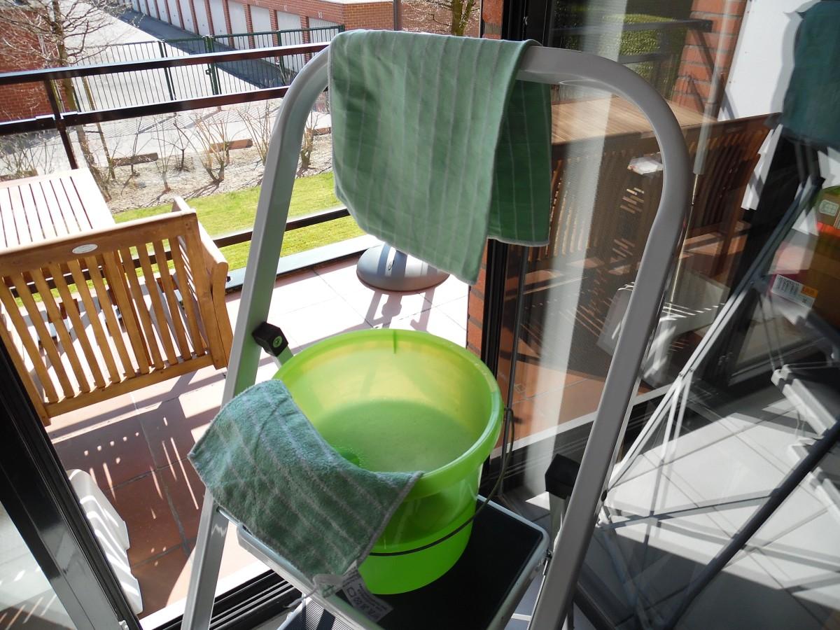 Lenteschoonmaak - ramen lappen met bamboe