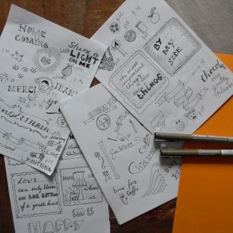 handlettering - schetsen