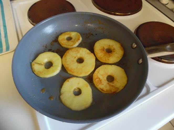 appelschijfjes, gekarameliseerd