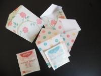envelop voor theezakjes - snail mail