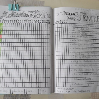 Bullet journal - tracker