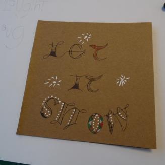 lettertekenen - let it snow