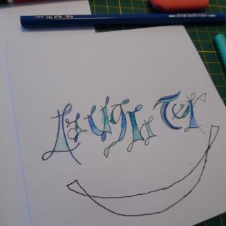 lettertekenen - laughter