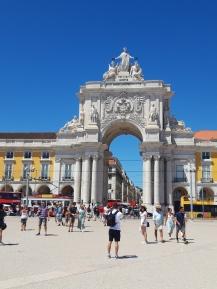 Lissabon - Arco da Rua Augusta voorkant
