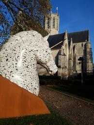 Dendermonde - Kerkplein, detail
